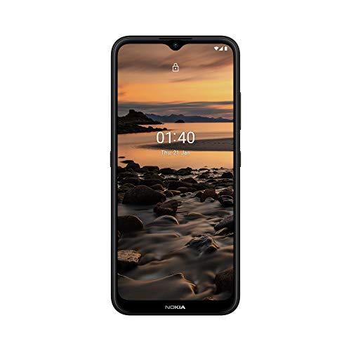 Nokia 1.4 con Pantalla HD+ de 6,51', Camera Go, batería de 4000 mAh de Capacidad, chipset Qualcomm, Sensor de Huellas Dactilares, Android 10, Doble SIM, 2GB de RAM, 32GB de ROM - Charcoal