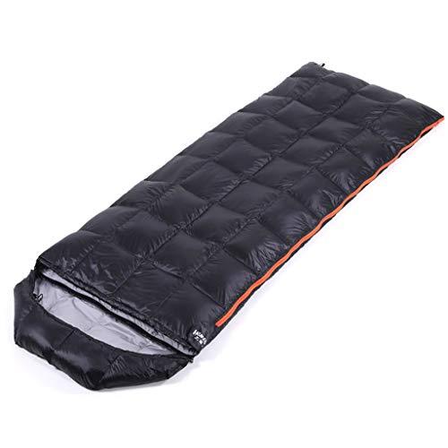 CATRP-Sac de couchage Keep Warm Enveloppe Extérieure pour Adulte, Style Léger, Duvet De Canard, 3 Couleurs, (175 + 30) X 73 Cm (Color : Black)