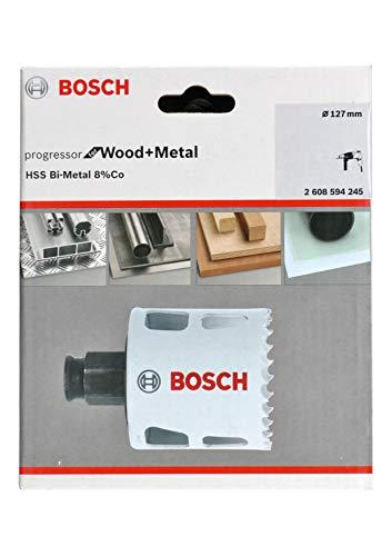 Bosch Professional 2608594245 Lochsäge Progressor für Wood & Metal (Holz und Metall, Ø 127 mm, Zubehör Bohrmaschine)