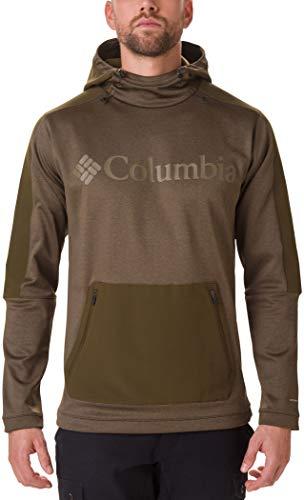 Columbia Maxtrail Camiseta con Capucha, Hombre, Olive Green, M