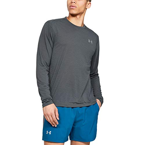 Under Armour Herren UA Streaker 2.0 komfortables und atmungsaktives Sportshirt mit strategischen Mesh-Einsätzen, innovatives Langarmshirt mit UA Microthread-Technologie