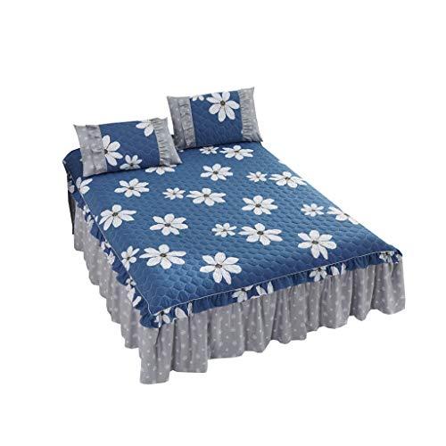 XXT Modestars Bett Rock, bettdecke, Bett Rock bettdecke staubschutz, Haus gefaltete dreidimensionale Bett Rock Textil (Color : C, Size : 1.8m*2.0m)