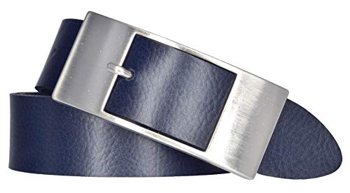 Mytem-Gear Damen Leder Gürtel 35 mm Nappaleder Damengürtel (105 cm, Marine)