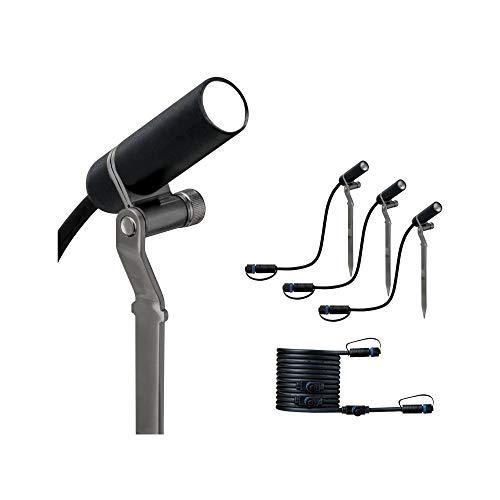 Paulmann 941.56 Outdoor Plug & Shine Spot Plantini Ergänzungs-Set 3000K 24V Anthrazit Alu 94156 Aussenleuchte Spotbeleuchtung Gartenbeleuchtung