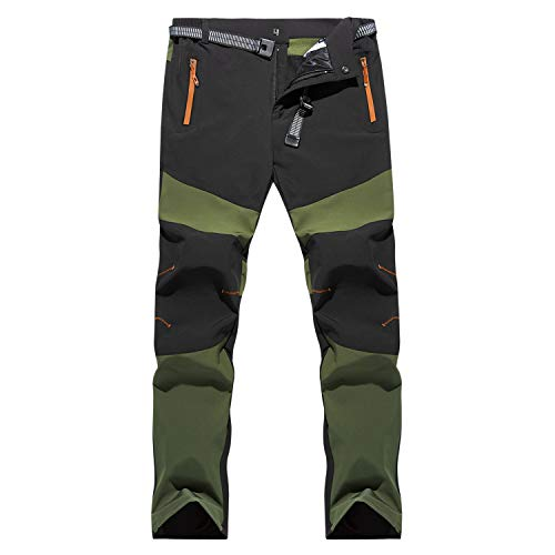 LHHMZ Men's Outdoor Hiking Trousers Windproof Breathable Comfortable Sports Walking Trousers Casual Pants Zipper Pockets