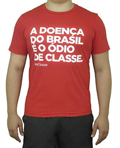 Camiseta Vermelha Exclusiva Ódio de Classe - Jessé Souza (GG)
