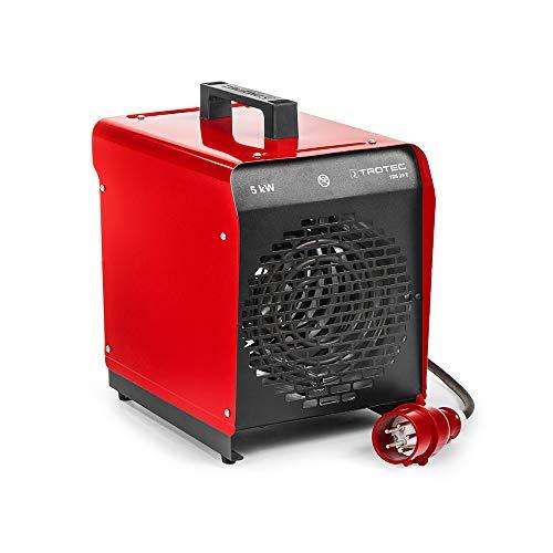 TROTEC Elektroheizgebläse TDS 29 E Elektroheizer Bauheizer Heizlüfter Heizer (max. 5 kW), Integriertes Thermostat, 2 Heizstufen, Kondensfreie Wärme