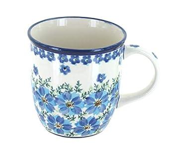 Blue Rose Polish Pottery Kalina Coffee Mug