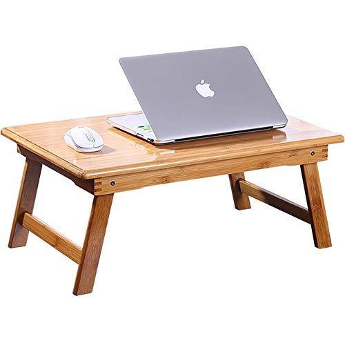 HCYTPL Inklapbare bijzettafelvouwen laptop bureau bed kleine tafel van massief hout bureau student bureau leren
