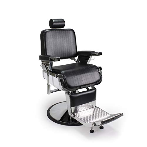 Find Bargain Lincoln Barber Chair Heavy Duty, Hydraulic Reclining All Purpose Barber Chair, Salon Hair Styling Chair