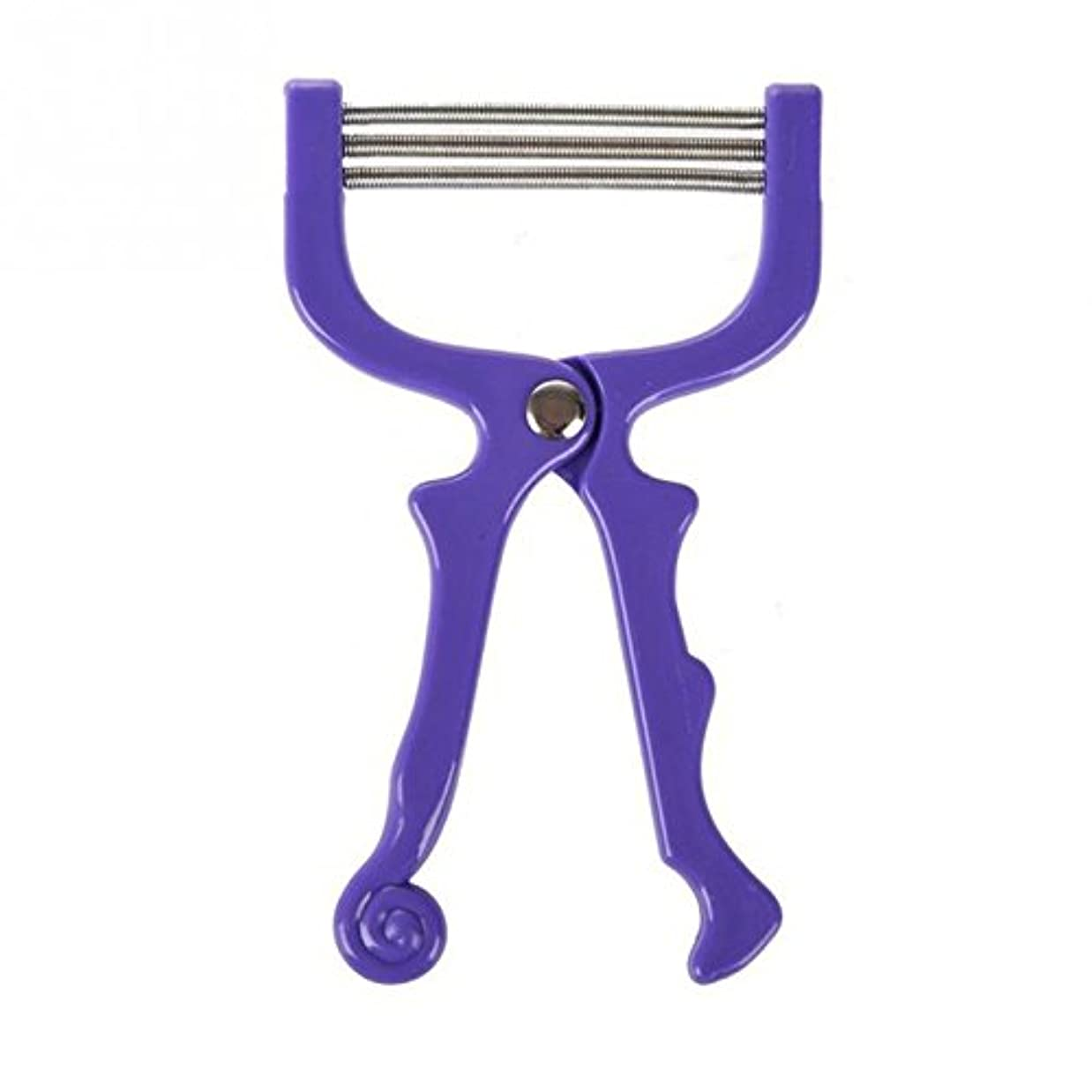 慎重ハイランドカーテンACAMPTAR 新しい フェイシャル ヘア フェイス 毛の除去工具 スレッディング 美容ツール、パープル