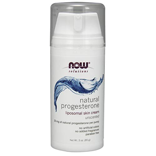 NOW Solutions, Natural Progesterone, Balancing Skin Cream, 20 mg of Natural Progesterone Per Pump, Unscented, 3-Ounce