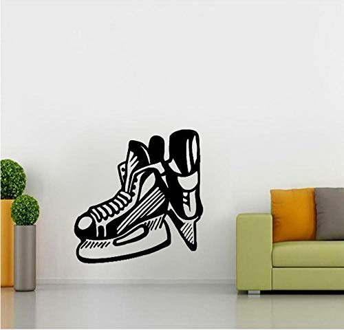 Muursticker 50 cm * 52,1 cm koelste muursticker slaapkamer hockey schaats lemmet Extreme Sport Pvc