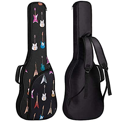 CAHAYA Electric Guitar Bag Padded Electric Guitar Gig Bag Backpack Soft Electric Guitar Case