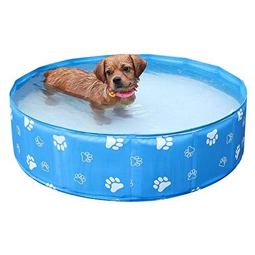 Yunhigh Hundebecken faltbar, Hundeschwimmbecken Badewanne PVC für kleine und mittlere Hunde Welpen Katze Kinder Bällebad für Gartenterrasse Camping Hot Summer