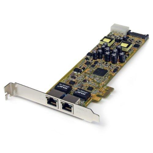 StarTech.com Dual Port PCI Express Gigabit Netzwerkkarte - 2 Port RJ45 PCIe PoE/PSE NIC Server Adapter - 10/100/1000 Mbit