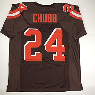 Unsigned Nick Chubb Cleveland Custom Stitched Brown Football Jersey Size Men's XL New No Brands/Logos