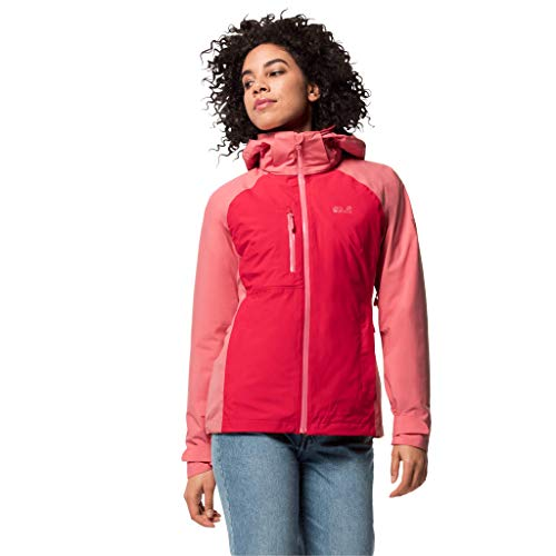 Jack Wolfskin Mount Emin 3In1 Giacca, Donna, Clear Red, XL