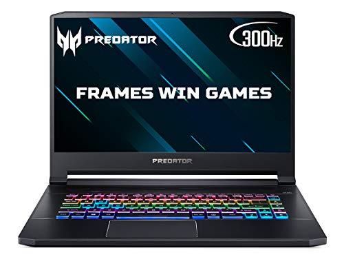 Acer Predator Triton 500 PT515-52 15.6 inch Gaming Laptop (Intel Core i7-10750H, 16GB RAM, 1TB SSD, NVIDIA RTX 2070 Super, Full HD 300Hz Display, Windows 10, Black)
