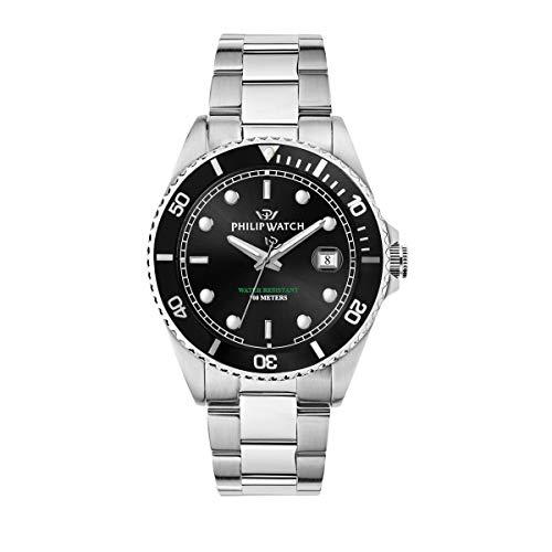 Philip Watch Orologio da uomo, Collezione Caribe, funzione tempo e data, in acciaio - R8253597046