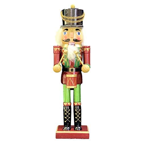 Statuetta Schiaccianoci Innovativi,Statuetta Schiaccianoci 38CM Ornamenti Per Burattini Per Regali,schiaccianoci Statuette Di Legno Per Bambola Soldato Schiaccianoci, Decorazione Natalizia Accessori