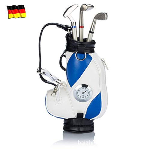 Golf Pen Set Mini Desktop Golfball Stift Geschenk,Golf Kugelschreiber und Flag Schreibwaren Dekorationen Für Golfer Fans Damen Herren Kinder