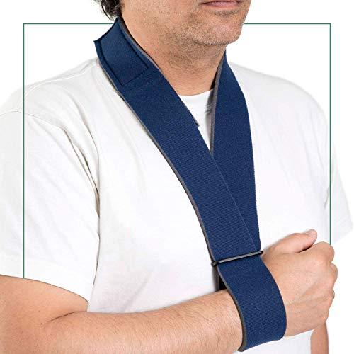 ORTONES | Wegfahrsperren Schulter Arm | Armschlinge | Stützgurt Medizinischer Qualität | Universalgröße | Farbe Blau