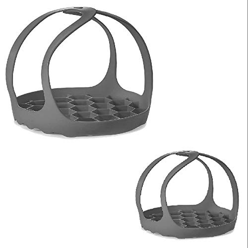 OVBBESS - 2 pezzi per fornello a pressione, imbragatura in silicone, multifunzione per fornelli, Bakeware Lifter a vapore, 15,8 cm + 20,8 cm