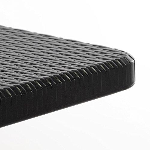 Partytisch Klapptisch Gartentisch Rattan-Optik 180 x 75 cm schwarz stabil Esstisch Buffettisch Tragegriff bis 170 kg - 3