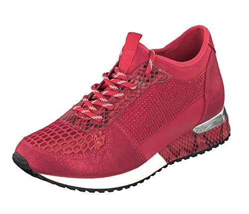 La Strada dames sneaker veters veters halve schoenen 1904004-1430 Cracked Red