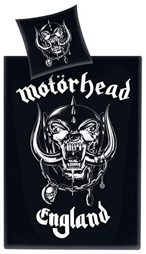 Motörhead Bettwäsche, Baumwolle, schwarz, 135 x 200 x 1 cm, 2-Einheiten