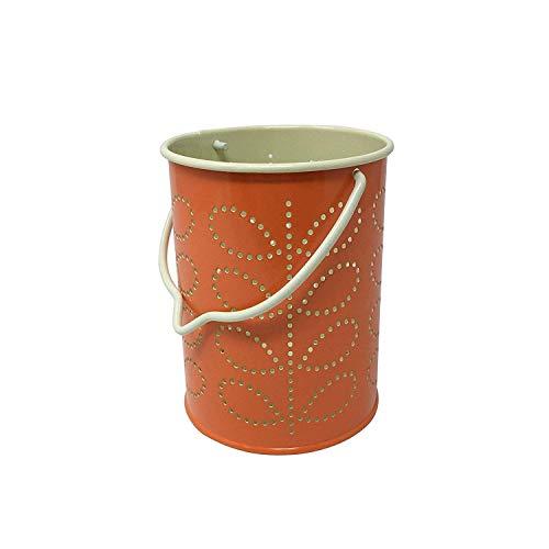 ORLA KIELY Lot de 4 lanternes linéaires en métal Orange crème
