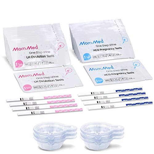 MomMed Ovulation Test Kit (HCG15-LH40), 15 Pregnancy Test Strips & 40 Ovulation Test Strips with 55 Urine Cups Reliable & Quick Early Pregnancy Test