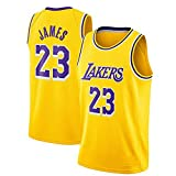 QWESHTU Camiseta De Baloncesto para Hombre Y Mujer, Lakers #23 Lebron James Camisetas De Verano Camiseta De Ventilador Chaleco Sin Mangas Ropa Deportiva Uniformes Deportivos Transpirables