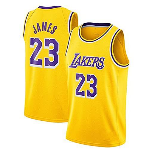 QWESHTU Ropa de Baloncesto Camiseta Retro para Hombre Lebron James # 23 Deportes de Baloncesto Camiseta de Los Angeles Camiseta Deportiva Sin Mangas