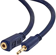 C2G 40626 Velocity 3.5mm M/F Mono Audio Extension Cable, Blue (6 Feet, 1.82 Meters)