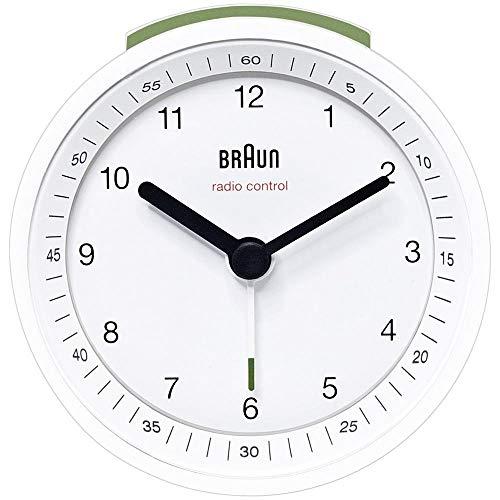 BRAUN Alarm BNC007WHWHDCF Radio Controlled Alarm Clock Excellent readability