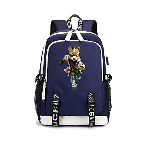 Star Fox Zero Pencil Cases Children's Backpack Trendy Design Schoolbag Casual Printed Breathable Daypack for Boys and Girls Unisex (Color : A01, Size : 30 X 15 X 43cm)