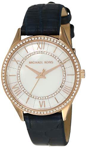 Michael Kors Damen Analog Quarz Uhr mit Leder Armband MK2757