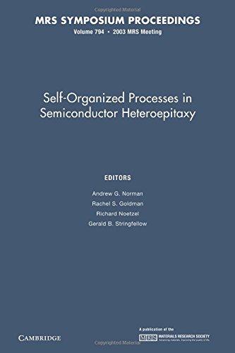 Self-Organized Processes in Semiconductor Heteroepitaxy: Volume 794 (MRS Proceedings)