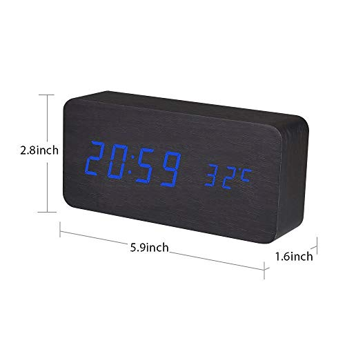 AHOMATE Wall Clock - Quartz Sweep - Easy to Read - Round Black Frame - Battery Operated - White Face - 10 Inch