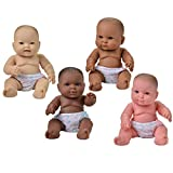 Constructive Playthings Huggable Multi-Cultural Baby Dolls for Kids, Set of 4