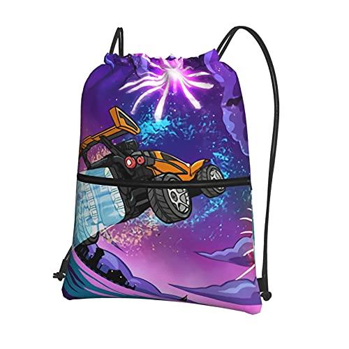 Rocket League - Bolsas de deporte escolares con cordón, mochila impermeable para gimnasio, mochila diaria, bolsas de viaje, bolsas de natación para niños y estudiantes