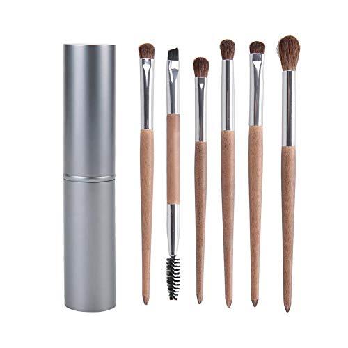 Trousse à outils cosmétique de jeu de pinceaux de maquillage d'oeil 6pcs