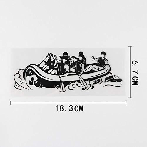 HKSOKLLJJ 3 Piezas Pegatinas y calcomanías para Coche 18,3 cm x 6,7 cm Rafting Extremo Kayak Pegatinas Reflectantes a Prueba de Agua portátil Motocicleta Coche Bicicleta DIY Fiesta Parche Pegatinas
