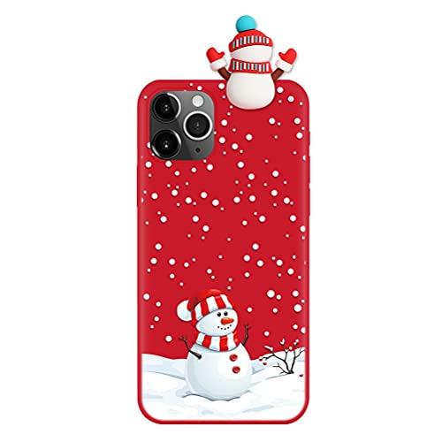 Pnakqil Funda para OnePlus Nord 5G / 8 Nord 5G / Z 6,44', Silicona Cárcasa con 3D Doll Toy Muñeca Navidad Patrón, Suave TPU Slim Antigolpes Protettiva Carcasa con Dibujos Diseño, Muñeco de Nieve