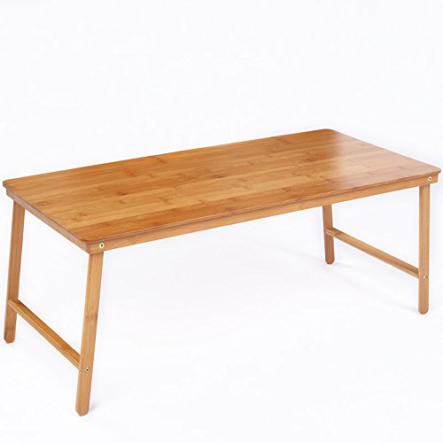 ZHIRONG Table pliante simple et moderne Bamboo Arts Laptop Table petite table sur la table d'étude de lit 80 * 38 * 32cm