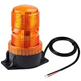 Magnetic Amber Led Strobe Lights for Forklift Golf Carts UTV Cars Trucks Tractor, WOWTOU 12V 24V Safety Warning Roof Top Flasher Emergency Flashing Beacon