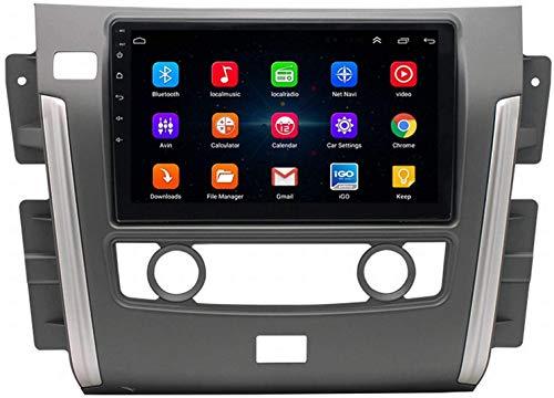 GPS Navigation Head Unit Sat Nav AUD Audio Player MP5 FM Radio Receptor Coche Estéreo De 9 Pulgadas Táctil Android 9.0 Compatible para Nissan Patrol Y62 2010-2020,4 Core 4G+WiFi 2+32GB