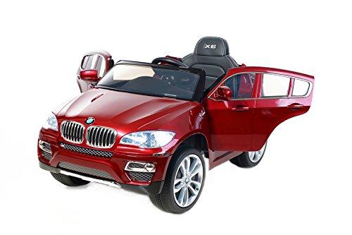BMW X6 Original licenza, Rosso Laccato Luxury, Ruote EVA morbide, 2x Motore, 12 V della Batteria, con 2,4 GHz Telecomando, Macchina bambino, Macchine e Moto elettriche, Veicoli Elettrici, Veicolo Elettrico